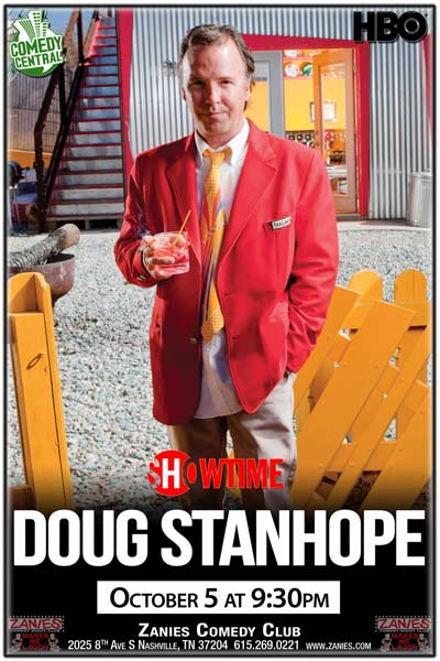 Doug Stanhope from Comedy Central, HBO, Showtime and much more live Zanies Comedy Club Nashville Wednesday, October 5, 2016 at 9:30pm