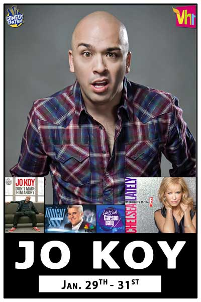 Jo Koy January 29-31, 2015 from Chelsea Lately, Comedy Central, VH1 and much more Live at Zanies Comedy Club Nashville