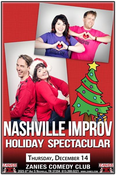 Nashville Improv Holiday Spectacular at Zanies Comedy Club Nashville December 14, 2017
