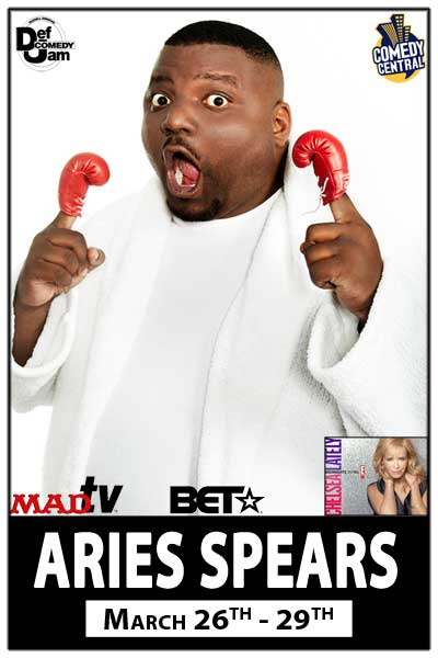 Aries Spears from MadTV live at Zanies Comedy Club Nashville March 26-29, 2015