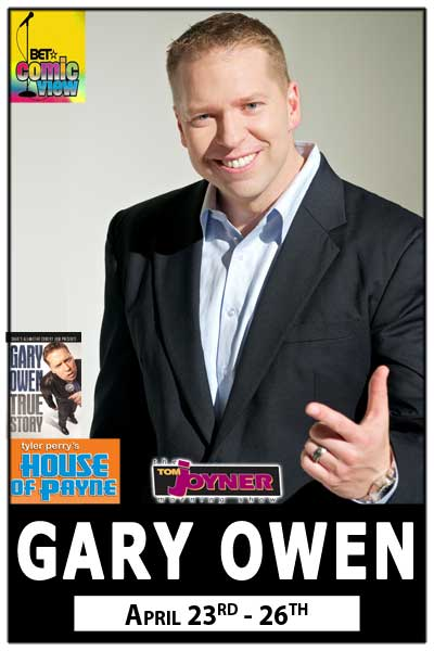 Gary Owen from BET & Tyler Perry's House of Payne live at Zanies Comedy Club Nashville April 23-26,2015