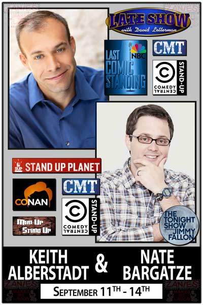 Keith Alberstadt & Nate Bargatze Nashville Natives September 11-14 at Zanies Comedy Club Nashville