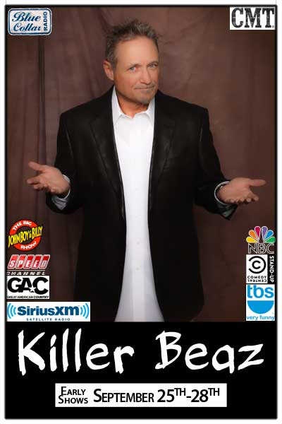 Killer Beaz Early Shows Sept. 25-28 at Zanies Comedy Club Nashville