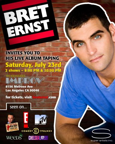 BRET ERNST CD TAPING