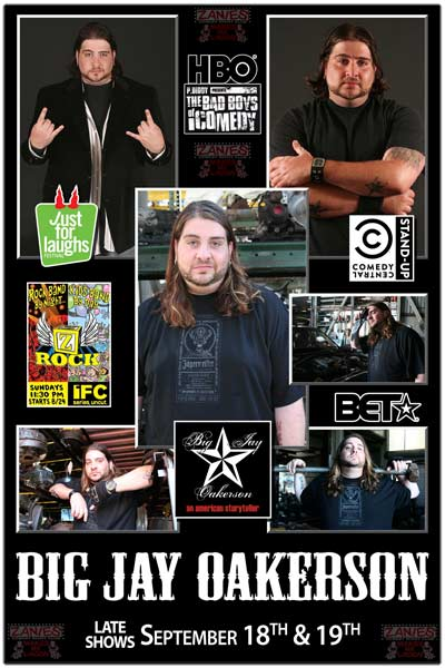 Big Jay Oakerson Late Shows September 18 - 19, 2015 live at Zanies Comedy Club Nashville