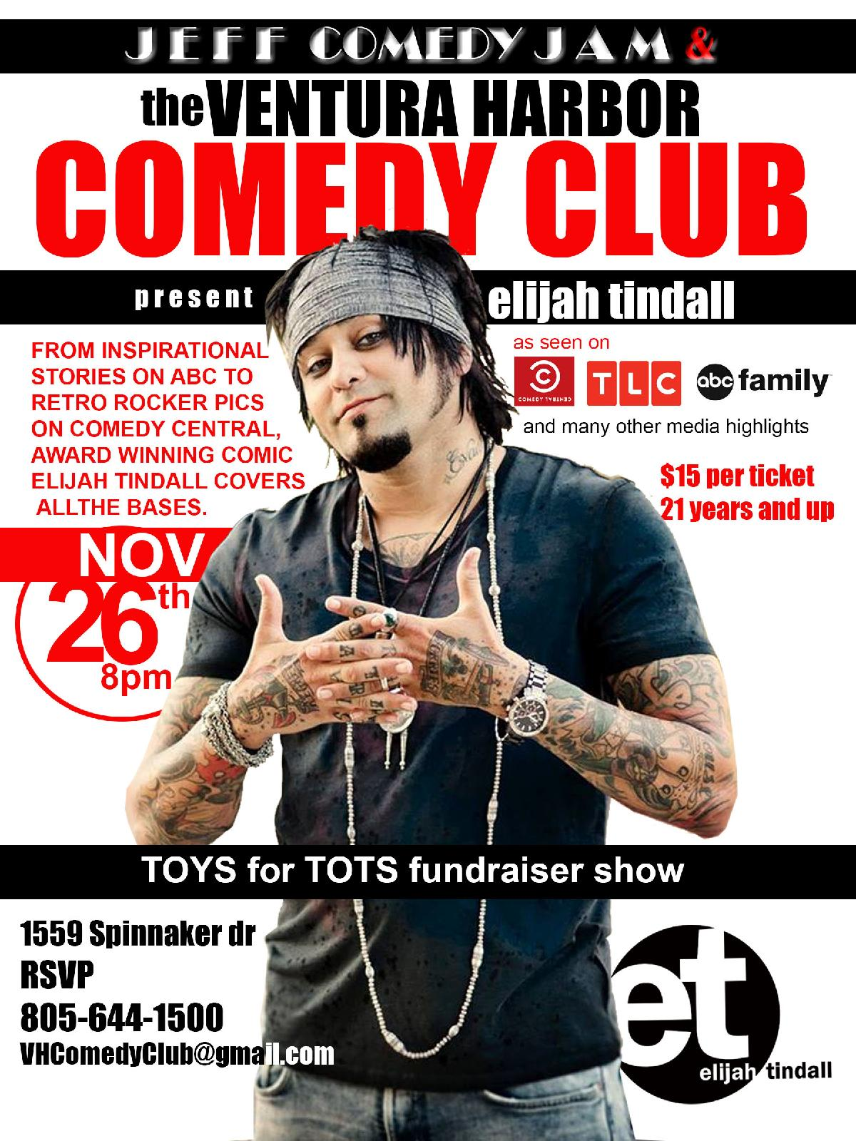 The Jeff Comedy Jam with Elijah Tindall Toys For Tots Fundraiser