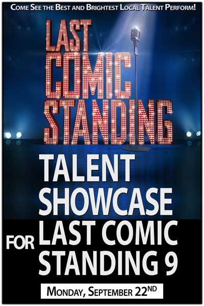 Last Comic Standing 9 Talent Showcase Monday, September 22, 2014 at Zanies Comedy Club - Nashville