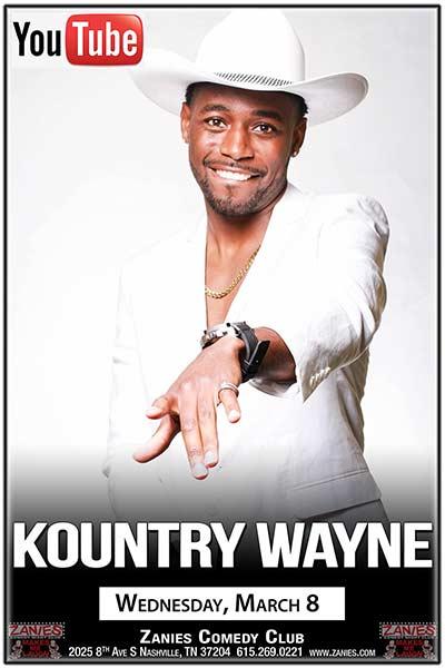 Kountry Wayne live at Zanies Comedy Club Nashville March 8, 2017