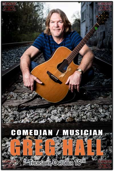 Greg hall Comedian and Musician live at Zanies Comedy club Nashville Thursday October 15, 2015