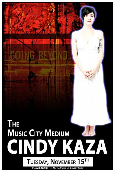 The Music City Medium Cindy Kaza live at Zanies Comedy Club Nashville Tuesday, November 15, 2016