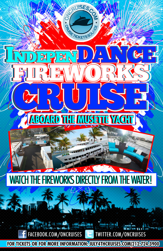 IndepenDANCE Fireworks Cruise aboard the Musette Yacht
