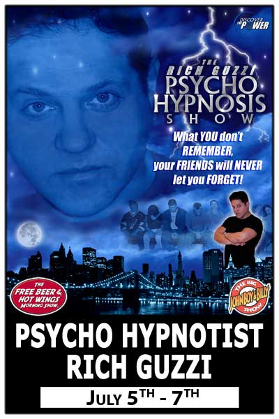 Hypnotist Rich Guzzi July 5-7