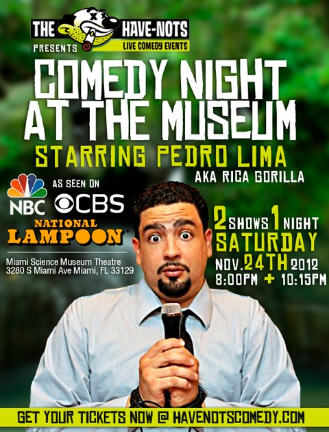 Comedy Night at the Museum with Pedro Lima