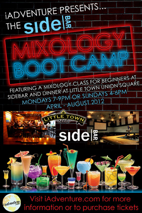 Mixology Boot Camp for Beginners at SideBAR and Dinner Combo at Little Town