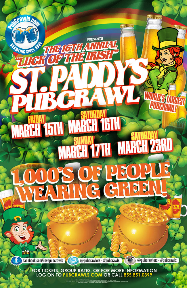 Saint Paddys Luck of the Irish PubCrawl South Beach