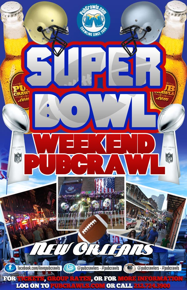 Super Bowl Weekend Pub Crawl New Orleans