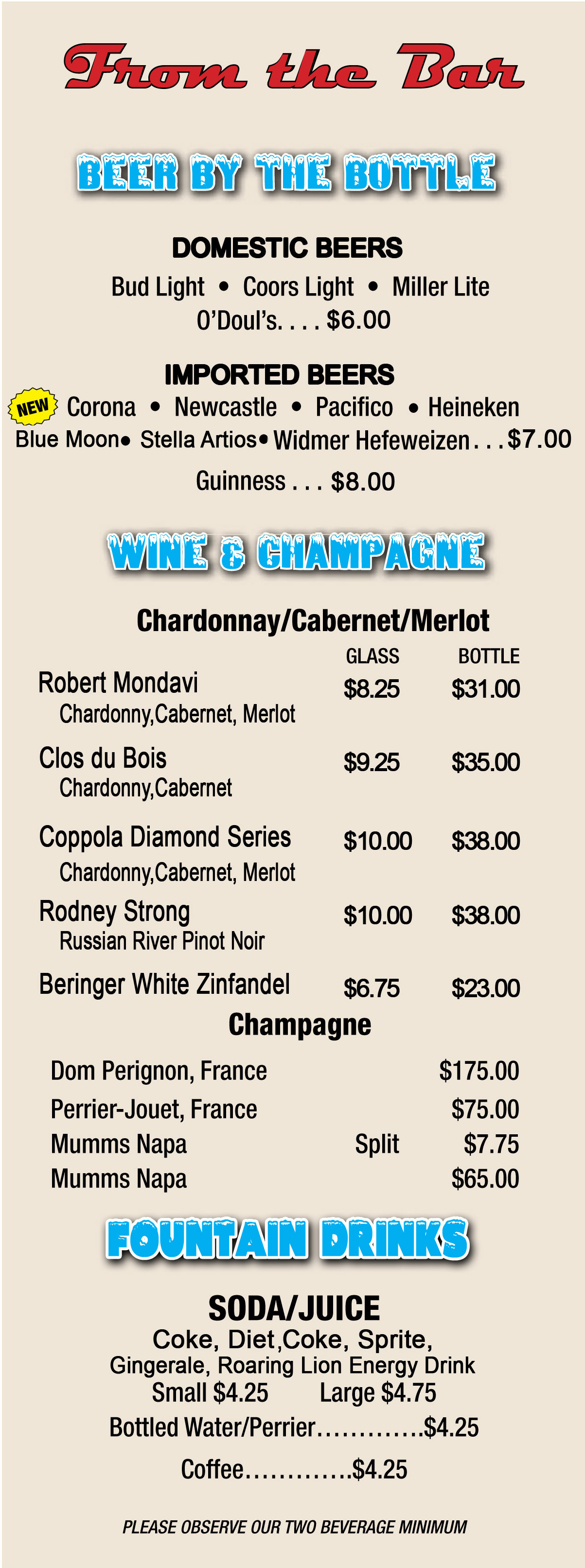 Exelent Sample Wine Menu Template Festooning Administrative - Beverage menu template