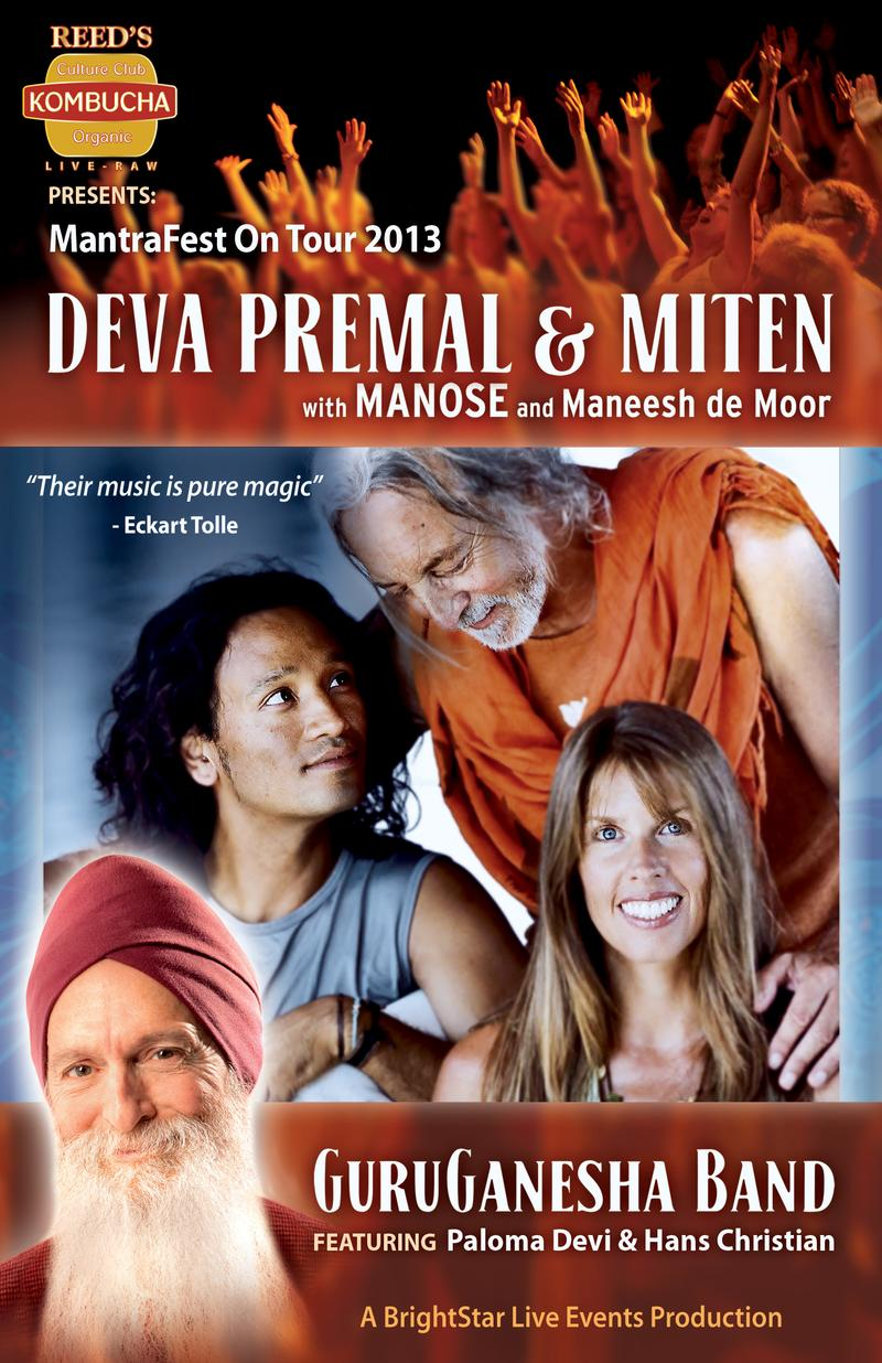 Deva Premal  Miten and GuruGanesha Band Asheville NC