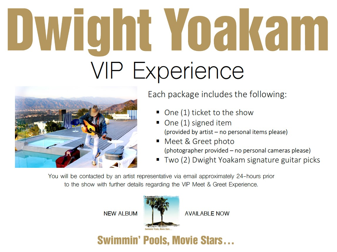 Dwight yoakam vip experience sold out harvester performance share with your friends kristyandbryce Images