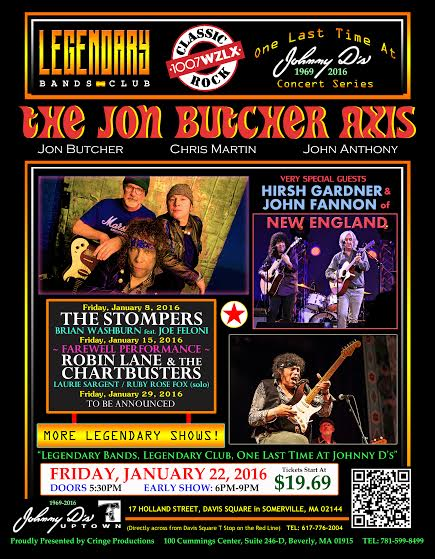The Jon Butcher Axis with very special guests Hirsh Gardner  John Fannon of New England