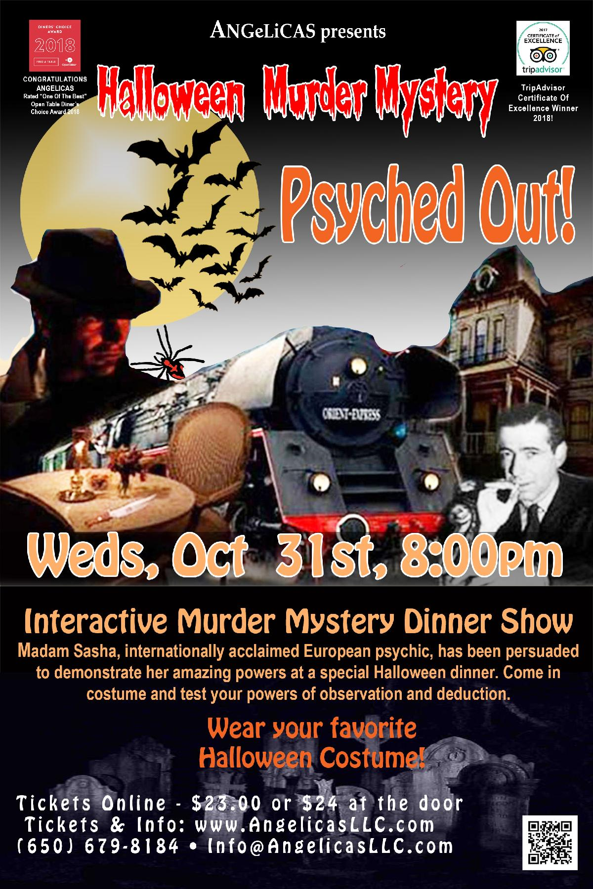 "murder mystery halloween party ""psyched out"" :: angelicas"