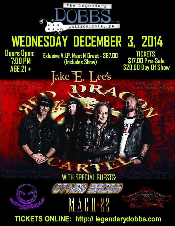 Red Dragon Cartel featuring Jake E Lee on Guitar returns to Dobbs