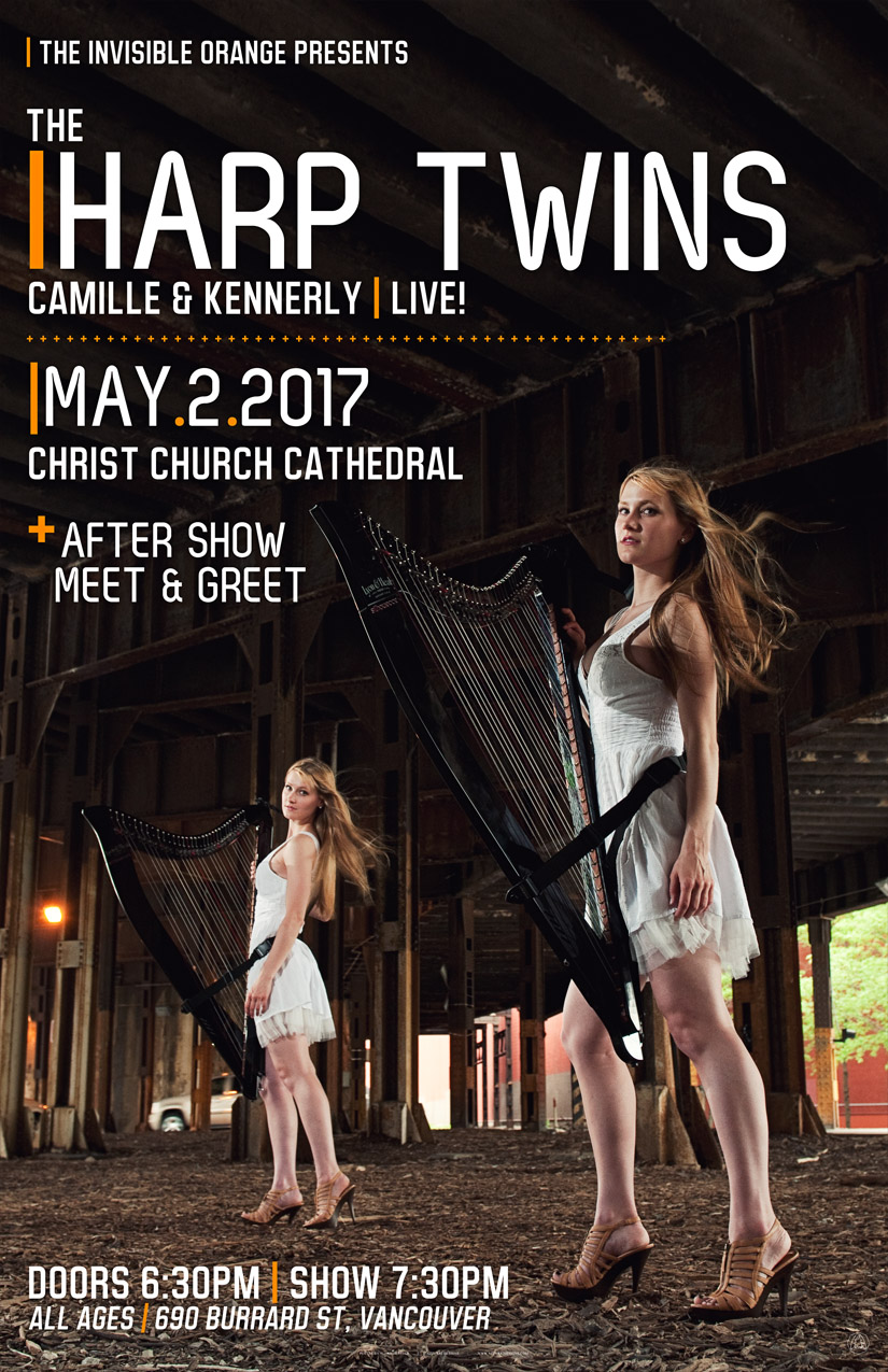 The Harp Twins: Camille and Kennerly :: The Invisible Orange
