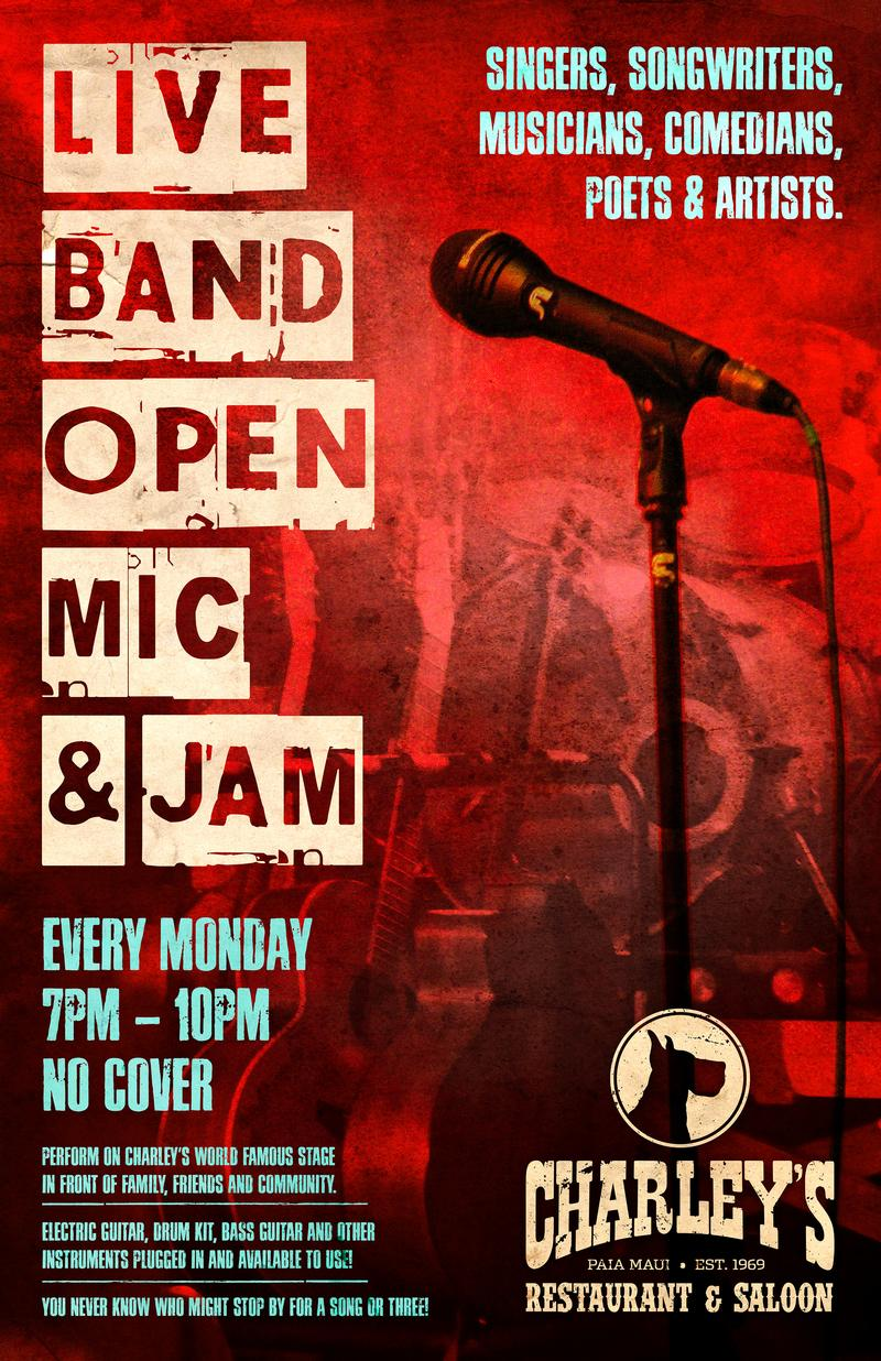Charleys Live Band Open Mic  Jam