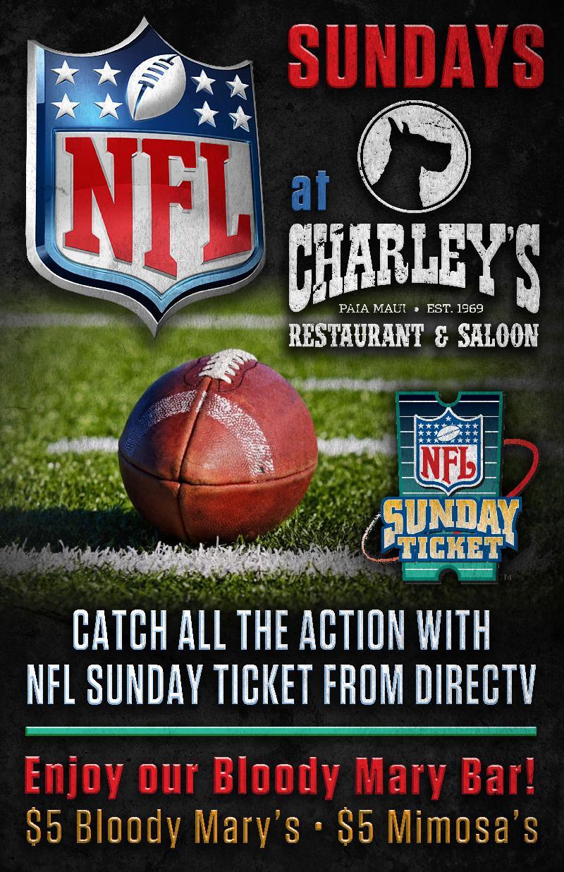 Charleys Restaurant And Saloon Nfl Football Nfl Sunday