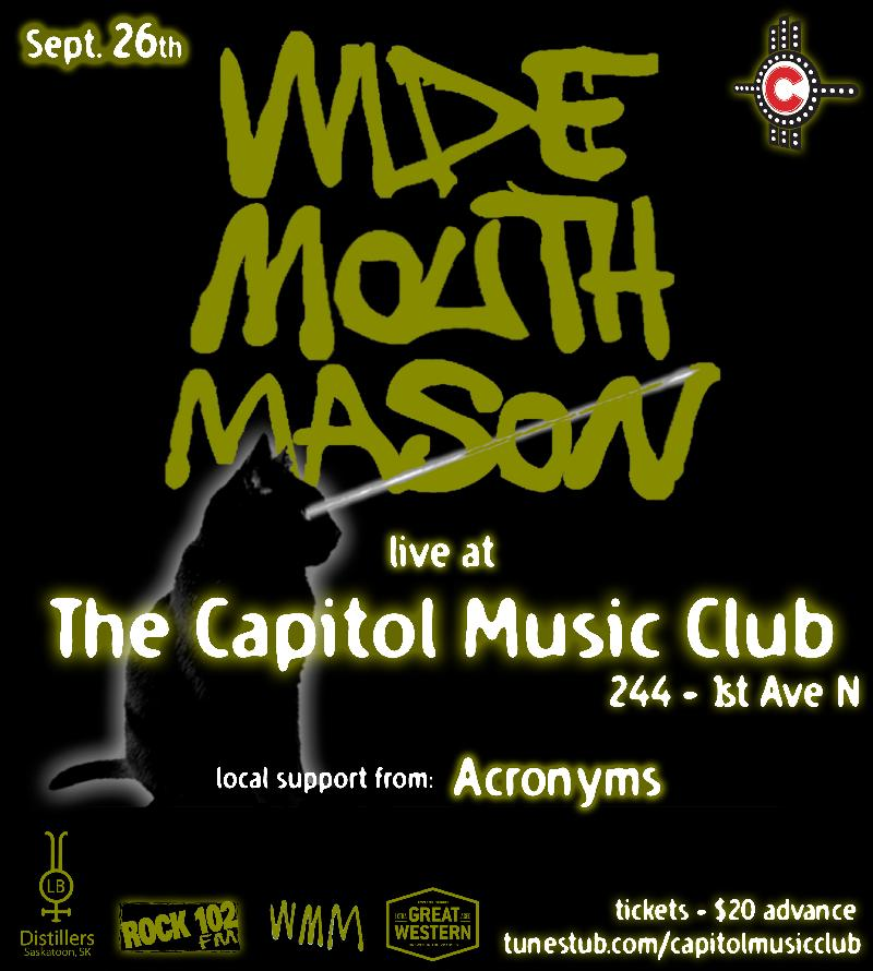 Wide Mouth Mason  Live  The Capitol Music Club  feat  Acronyms  Sept 26th
