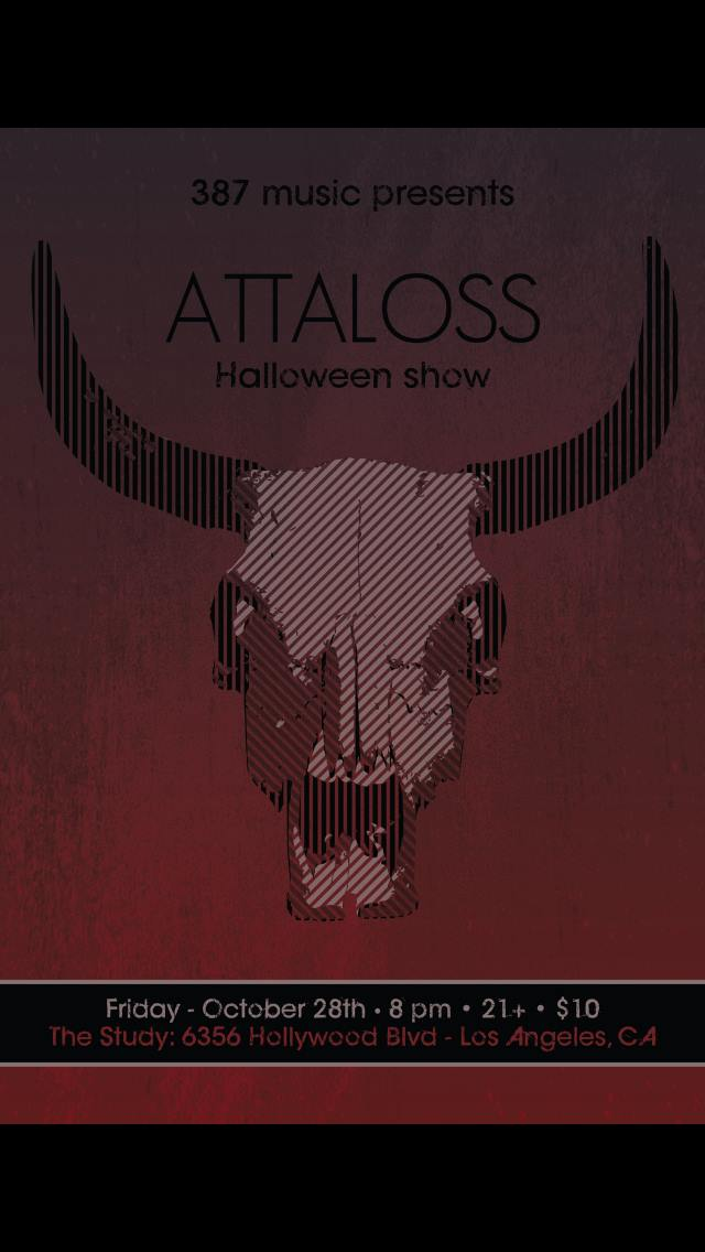 387 Music Presents Live at The Study with ATTALOSS  Halloween show with Foxtrot Frenzy 42 King  Maryama