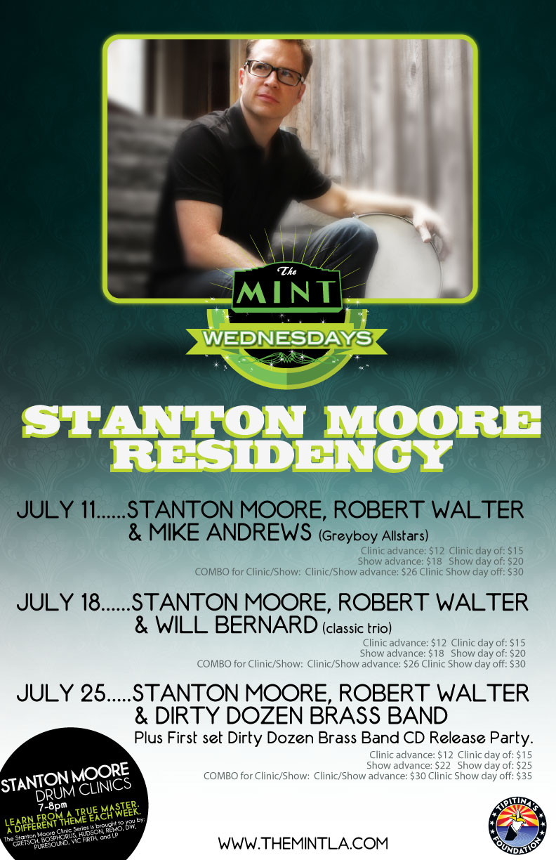 Stanton Moore Trio  Ft Robert Walter  Mike Andrews Greyboy Allstars