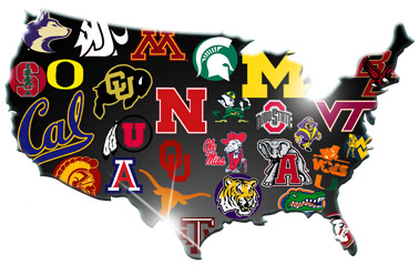 how many ncaa football teams are there college football on tv