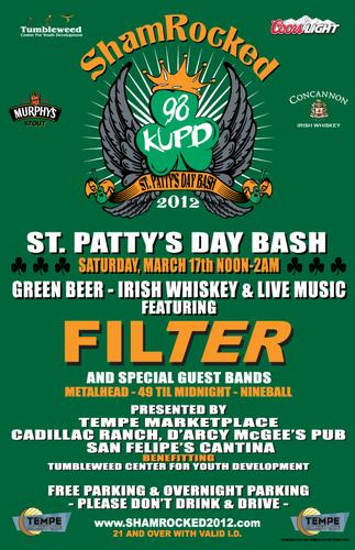 St Patricks St Pattys Day Bash  Tempe MarketPlaceGreen