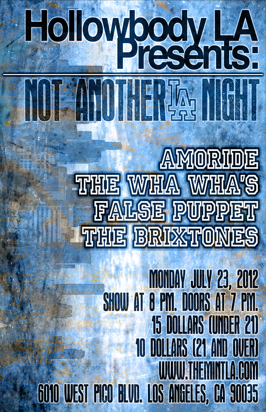 Hollowbody LA Presents  Amoride The Wha Whas  False Puppet The Brixtones