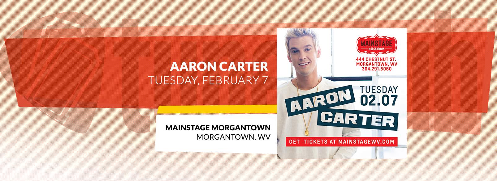 Aaron Carter @ Mainstage Morgantown