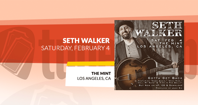 Seth Walker @ The Mint