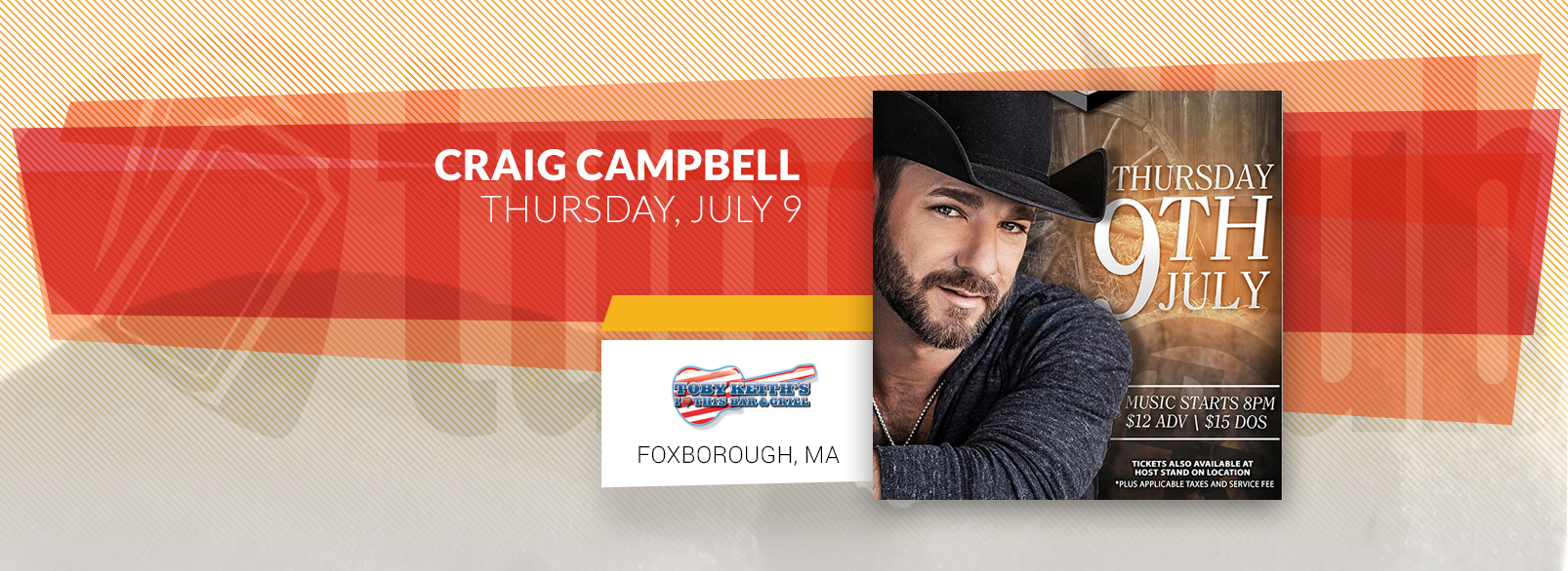 Craig Cambell @ Toby Keith's Foxborough