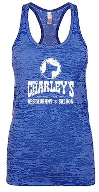 Women's Burnout Tank - Blue with white logo