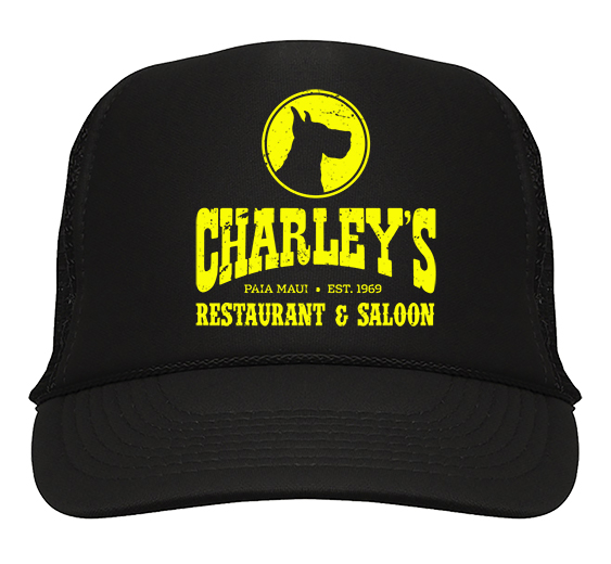 Trucker Hat - Black with yellow logo
