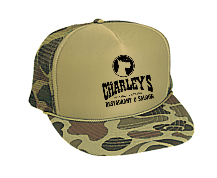 Trucker Hat - Camo with Black logo