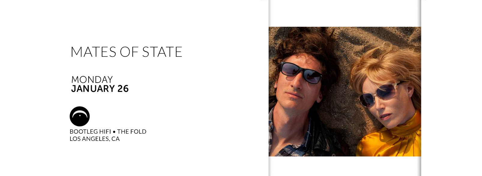 Mates of State @ Bootleg Hi-Fi