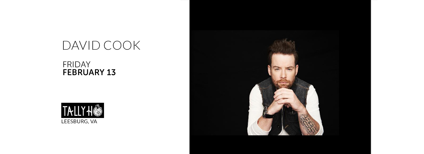 David Cook @ Tally Ho Theatre