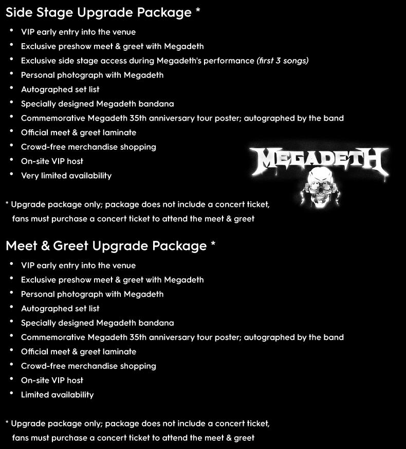 Megadeth vip m4hsunfo