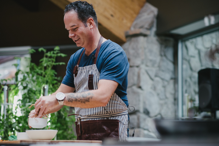 Chef Eric Pateman on the Cornucopia Culinary Stage, Whistler