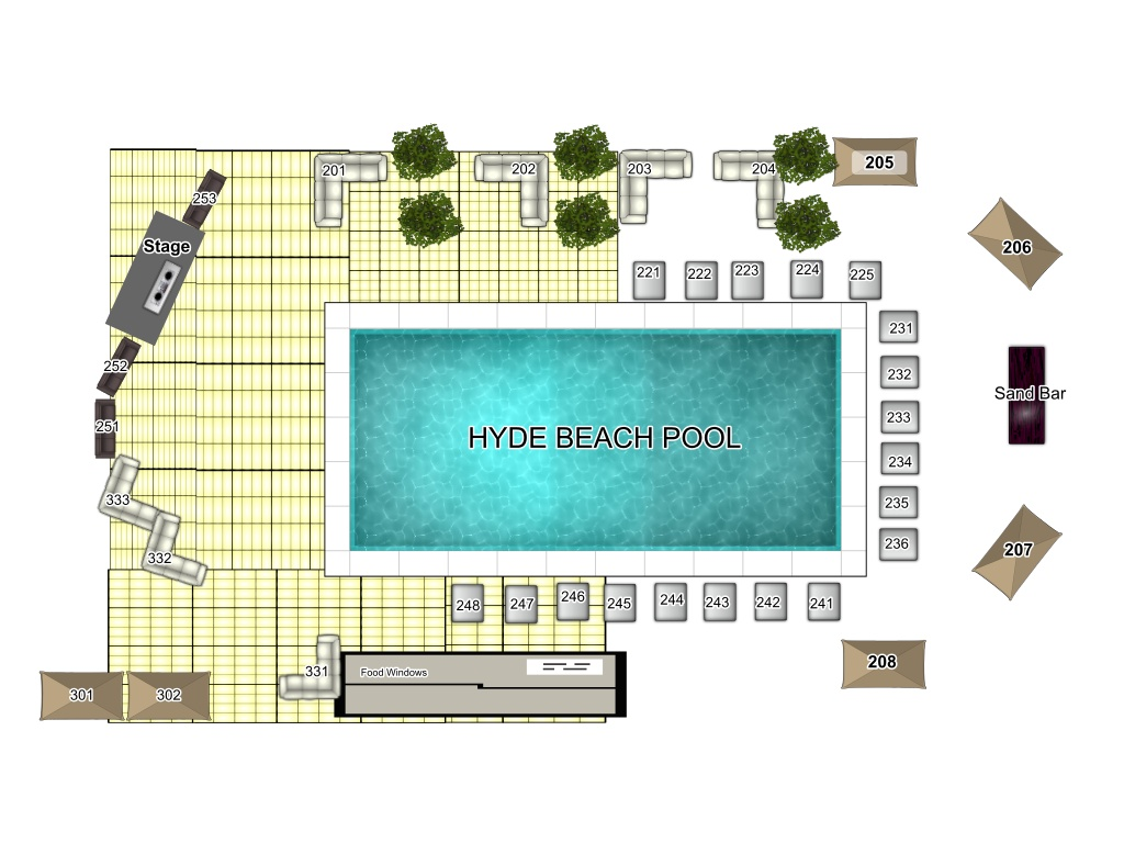 Beach hotel layout plan pics interior design decor for Swimming pool layouts and designs