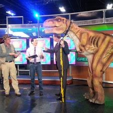 Rex loves making live TV appearances