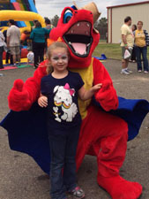 Pose for pictures with our dinosaur and dragon mascots!