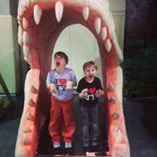 Have your picture taken in the jaws of a giant dino.