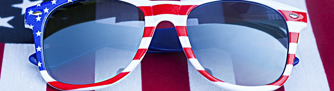 Glasses with USA flag - Illustration for the Memorial day article